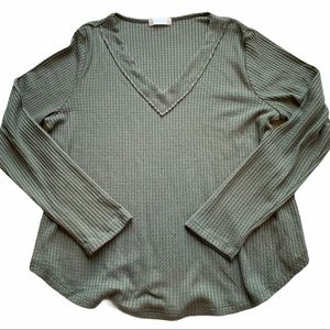 Altar'd State Waffle Knit Long Sleeve